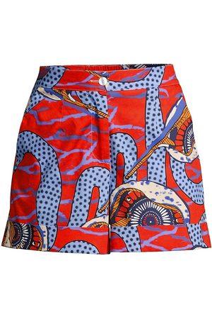 Stella Jean Women Shorts - Women's Printed Cotton Shorts - Size 2