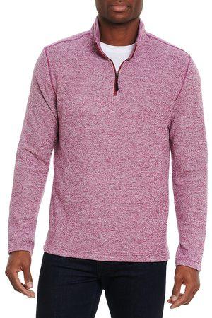 Robert Graham Men's Handley Classic-Fit Quarter-Zip Pullover - Berry - Size XXXL