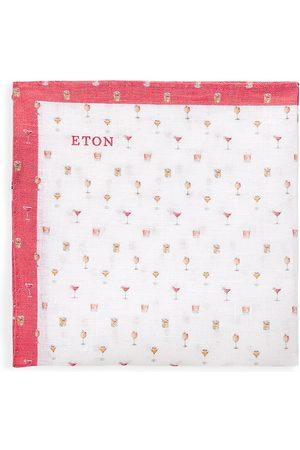 Eton Men Pocket Squares - Men's Printed Silk Pocket Square