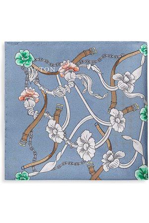 Eton Men Pocket Squares - Men's Botanical Silk Pocket Square