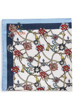 Eton Men's Floral Medallion Silk Pocket Square