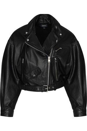 LaMarque Women's Dylan Leather Biker Jacket - - Size XS