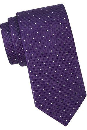 Eton Men Neckties - Men's Polka Dot Silk Tie
