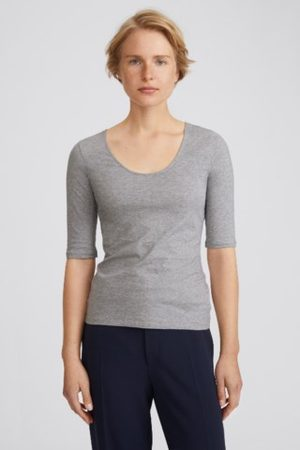 Filippa K Cotton Stretch Scoop Neck Top