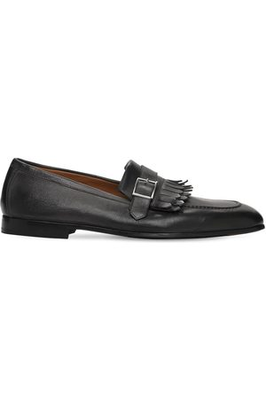 Doucal's Buckle Leather Loafers