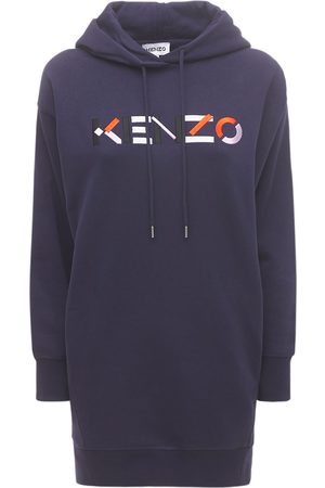 Kenzo Logo Cotton Fleece Sweat Dress