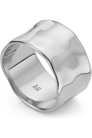 Monica Vinader Women Rings - Sterling Silver Siren Muse Wide Ring