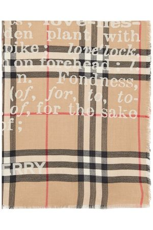 Burberry Women Scarves - Check Love scarf