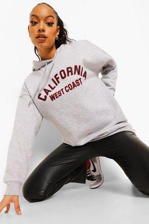 Boohoo Womens Oversized California Slogan Hoodie - - 2