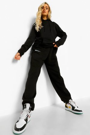 Boohoo Womens Text Print Hooded Tracksuit - - S