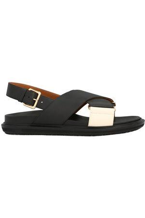 Marni Women Heels - Fussbett leather sandals