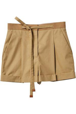 Loewe Women Shorts - Belted shorts