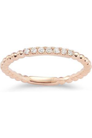 Dana Rebecca Designs Women Rings - 18kt rose gold and diamond Poppy Rae ring