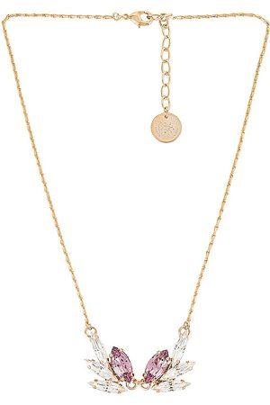 Anton Heunis Crystal Pendant Necklace in Metallic Gold, .