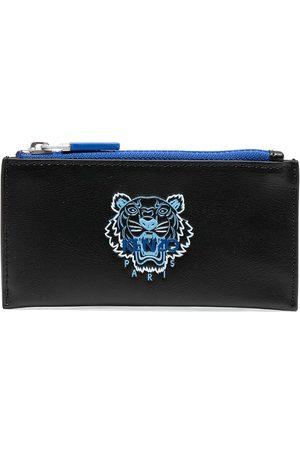 Kenzo Ekusson Tiger zipped leather cardholder