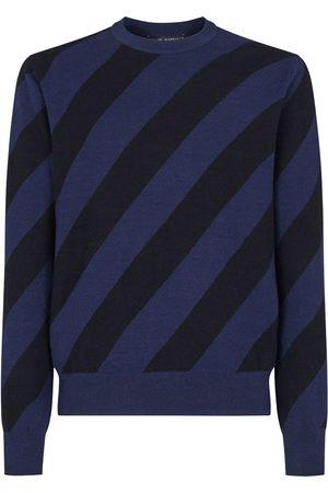 Dolce & Gabbana Diagonal-stripe crew-neck jumper