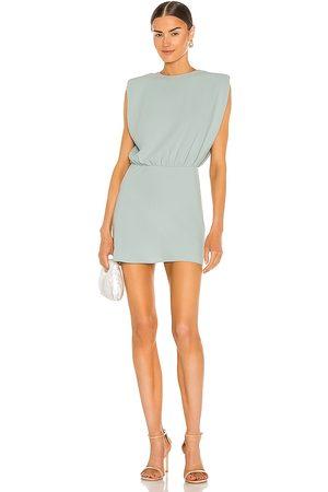Amanda Uprichard Kent Mini Dress in Mint.