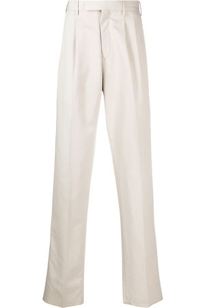 Z Zegna Men Straight Leg Pants - Concealed fastening trousers - Neutrals