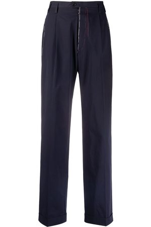 Maison Margiela Contrast-stitch straight-leg trousers