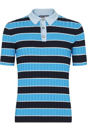 Dolce & Gabbana Men Polo Shirts - Stripe-pattern short-sleeve polo shirt