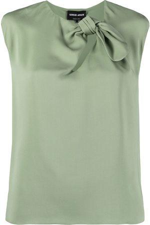 Armani Silk bow-detail blouse