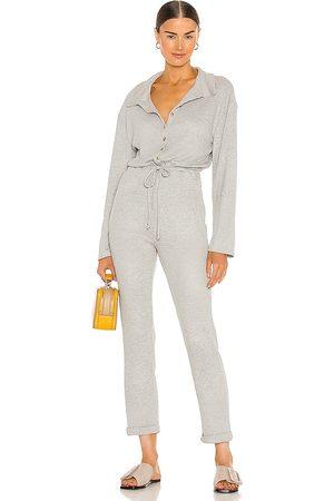 Lovers + Friends Cozy Knit Jumpsuit in Grey.