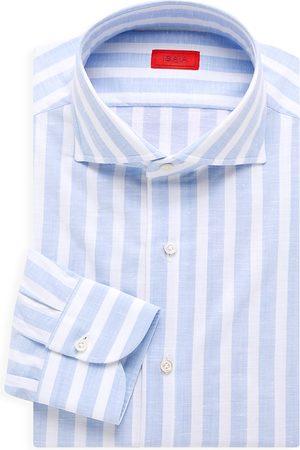 ISAIA Men's Striped Cotton Dress Shirt - Light - Size 16.5