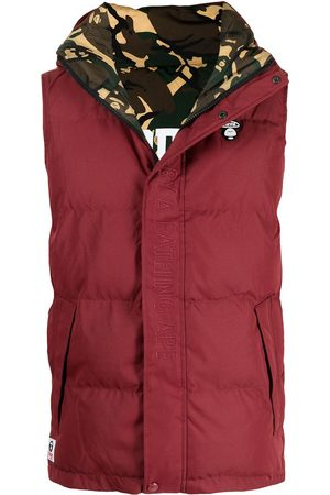 AAPE BY A BATHING APE Men Gilets - Embroidered logo padded gilet