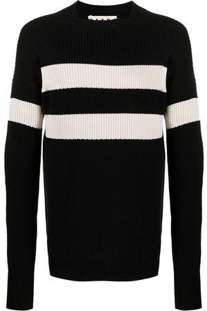 Marni Contrast-stripe rib-knit jumper