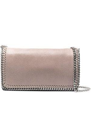 Stella McCartney Chain-link detail crossbody bag - Grey