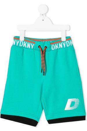DKNY Logo-tape cotton bermuda shorts