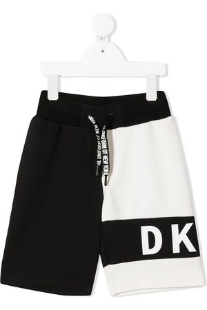 DKNY Two-tone cotton bermuda shorts