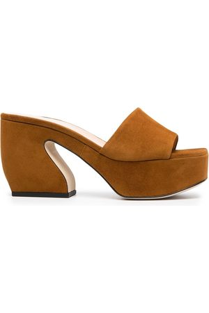 SI ROSSI Chunky-heel suede mules