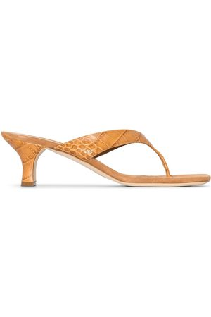 PARIS TEXAS Portofino 55mm crocodile effect sandals