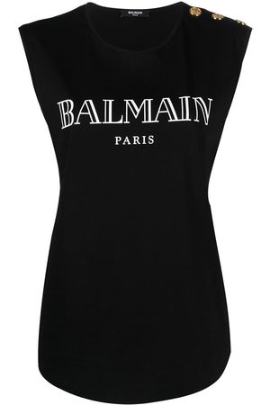 Balmain Logo-print vest top