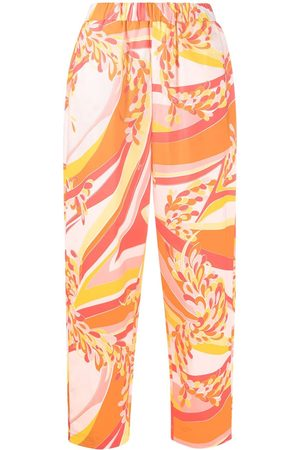 Emilio Pucci Abstract-print loose-fit trousers