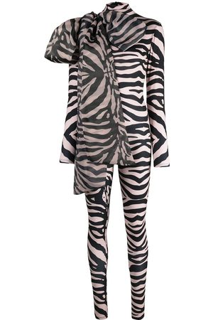 Atu Body Couture Zebra print stretch bodysuit - Neutrals