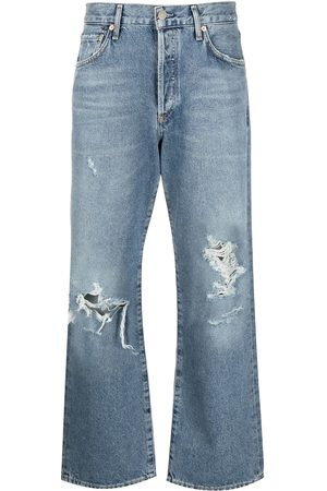 Citizens of Humanity Distressed-effect mid-rise cropped jeans