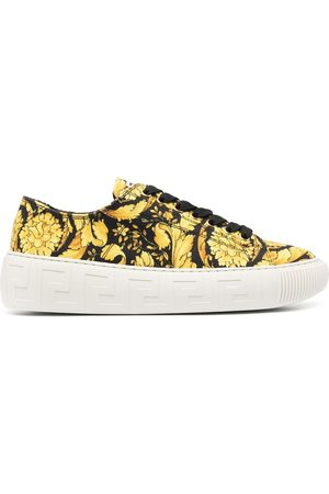 VERSACE La Greca Baroque-print sneakers