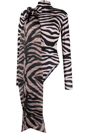 Atu Body Couture Zebra print bodysuit - Neutrals