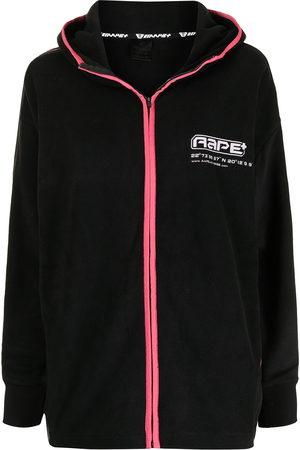AAPE BY A BATHING APE Logo-print zip-up hoodie