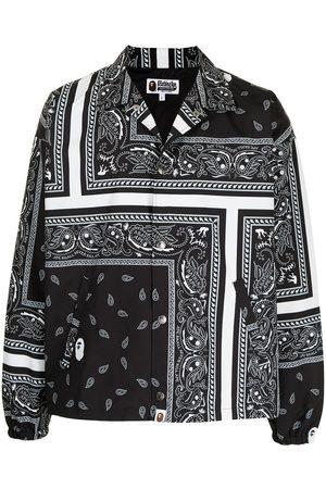 A Bathing Ape Bandana-print shirt jacket