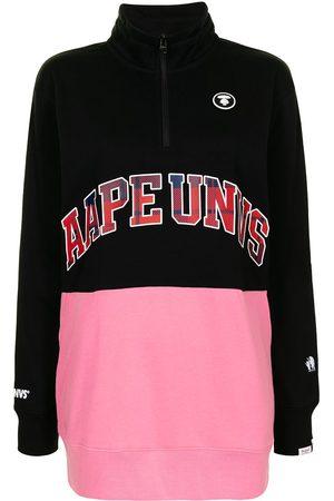 AAPE BY A BATHING APE Slogan-print zip-up sweatshirt