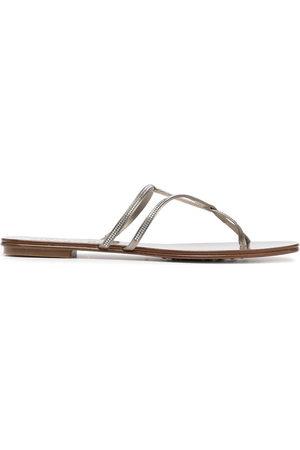 Pedro Garcia Estee crystal embellished sandals - Neutrals