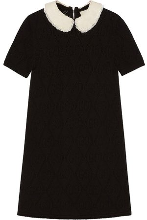 Gucci Contrast collar GG embroidery dress