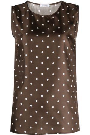 P.a.r.o.s.h. Polka-dot silk blouse