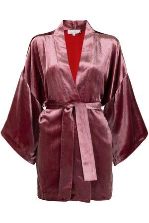 FLEUR DU MAL Haori velvet belted kimono