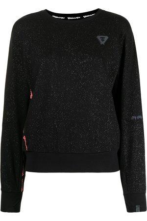 AAPE BY A BATHING APE Logo-patch glitter-detailed sweatshirt