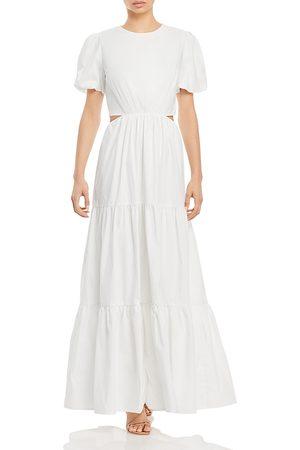 WAYF Plaza Cutout Tiered Maxi Dress