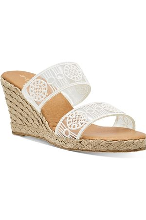 Andre Assous Women's Aja Decorated Double Strap Espadrille Wedge Sandals